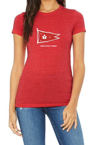 Women's Steadfast Tee - Burgee - Crimson Red / T-shirt Inébranlable pour Femmes - Burgee -Crimson Red