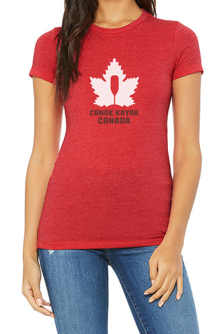 Women's Steadfast Tee - Canadiana - Crimson Red / T-shirt Inébranlable pour Femme - Canadien - Crimson Red
