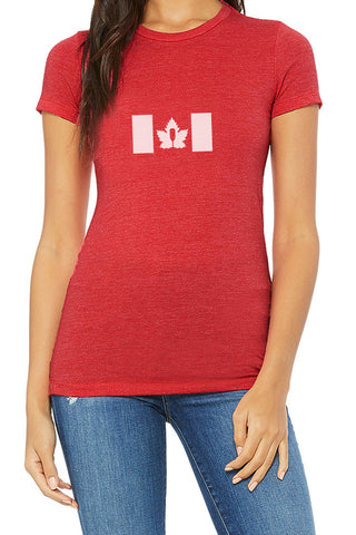 Canada Proud - Women's Steadfast Tee - Crimson Red / T-shirt Inébranlable pour Femmes - Canada - Crimson Red