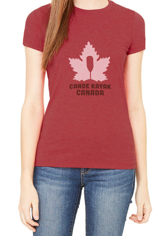Women's Steadfast Tee - Canadiana - Heather Red / T-shirt Inébranlable pour Femme - Canadien - Rouge Chiné