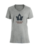 Women's Steadfast Tee - Canadiana - Grey / T-shirt Inébranlable pour Femme - Canadien - Gris