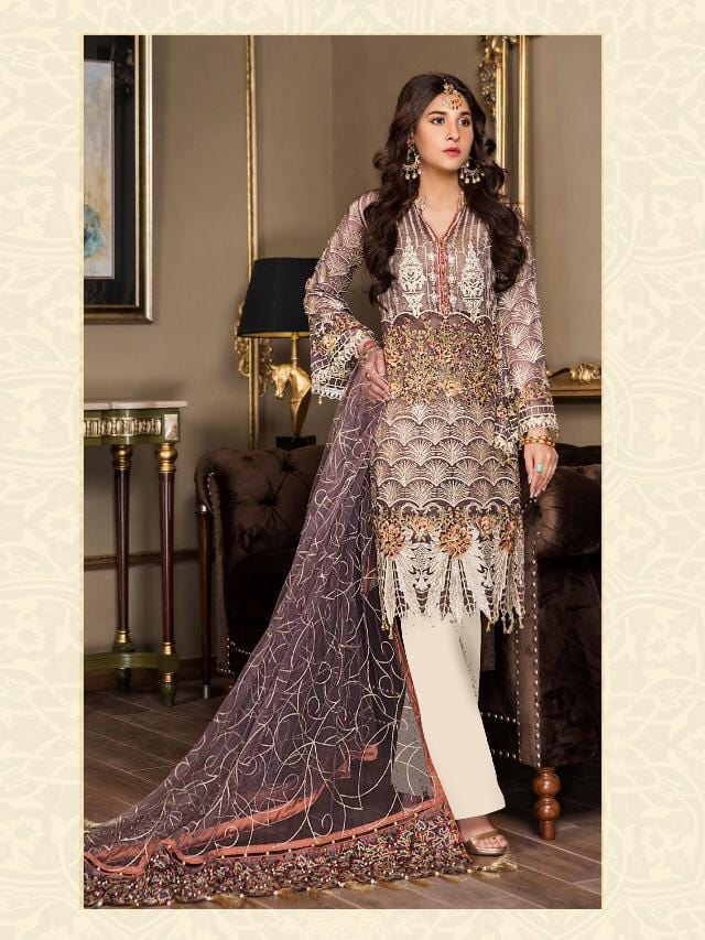 Maryam Gold Rinaz Inspired Design 2202 - Asian Suits Online