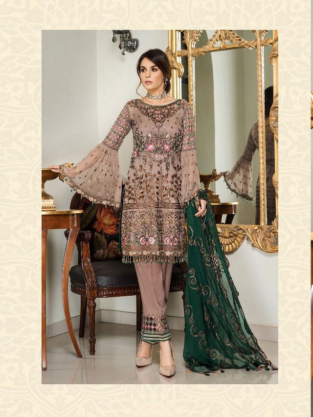 Maryam Gold Rinaz Inspired Design 2206 - Asian Suits Online