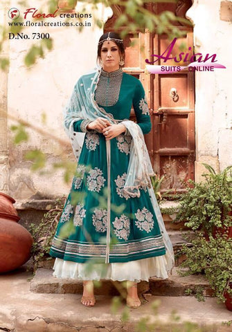 Floral Royal Bridal Design 7300