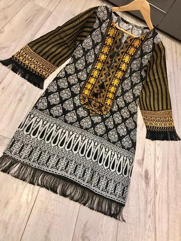 Winter Kurta Design WK14