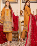 Linen Embroidered Design LE304
