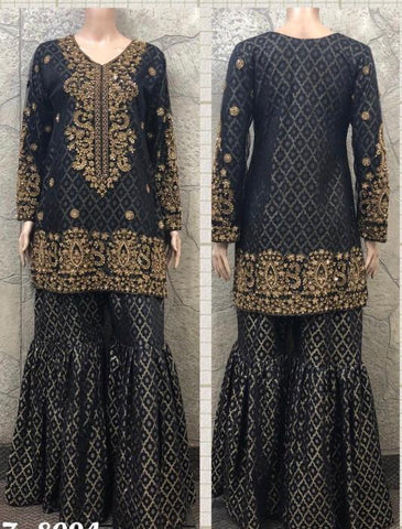 EID Sharara Tilla Embroidery Design ES226A