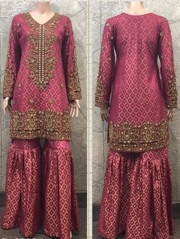 EID Sharara Tilla Embroidery Design ES226B