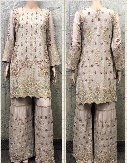 EID Sharara Embroidery Design ES229A - Asian Suits Online