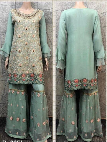 EID Sharara Embroidery Design ES233A