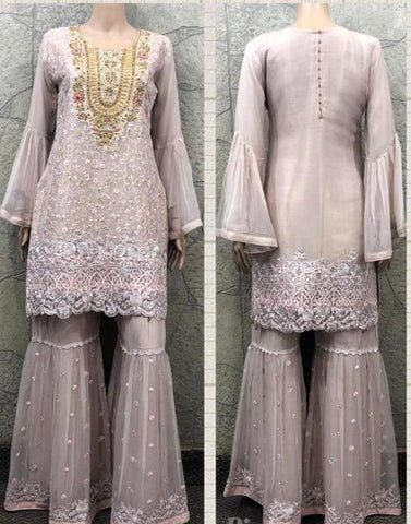 EID Sharara Embroidery Design ES234A
