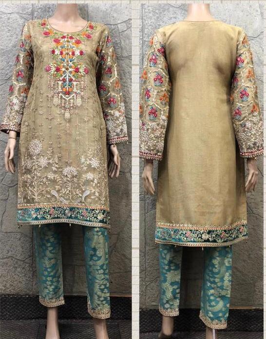 Maria B Embroidery Design EM235 - Asian Suits Online