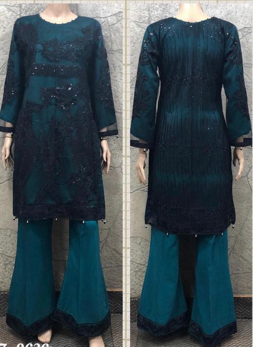 EID Inspired Embroidery work Design EM266 - Asian Suits Online