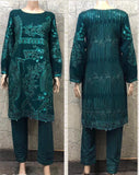 EID Inspired Embroidery work Design EM272 - Asian Suits Online