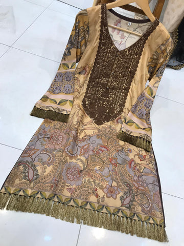 EID Viscous Kurta Design WK37