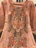 Inspired Linen Block Print Design RML3020 - Asian Suits Online
