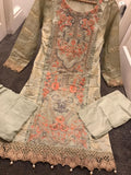 Inspired Linen Block Print Design RML3022 - Asian Suits Online