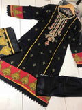 Winter Inspired Linen Kameez Design RWK7013