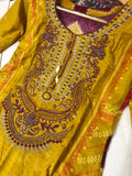Winter Inspired Linen Kameez Design RWK7019