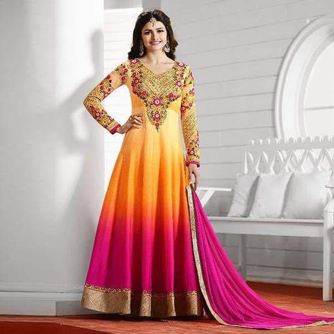 Prachi Desai Heavy Party Wear Design P3909