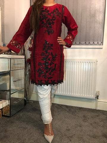 Autumn Viscous Kurta Design KV57