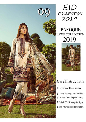 Baroque Inspired Lawn Design BL09