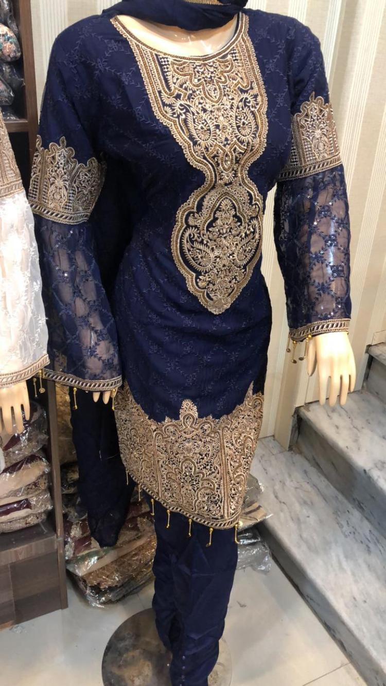 Chiffon Embroidery Design CE1104 - Asian Suits Online