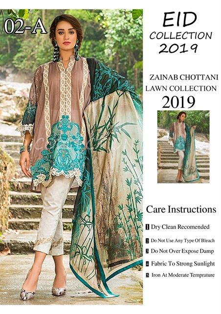 Zainab Chottani Inspired Lawn Design Z02A - Asian Suits Online
