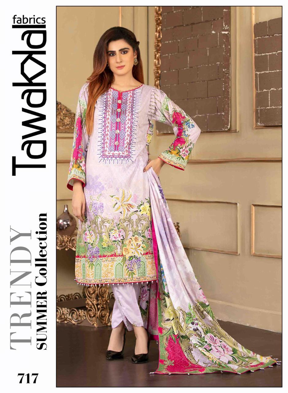 Tawakkal Original Lawn Design RMT717 - Asian Suits Online