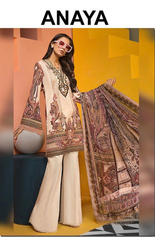 Anaya Inspired Linen Design A16 - Asian Suits Online