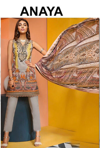 Anaya Inspired Linen Design A17 - Asian Suits Online