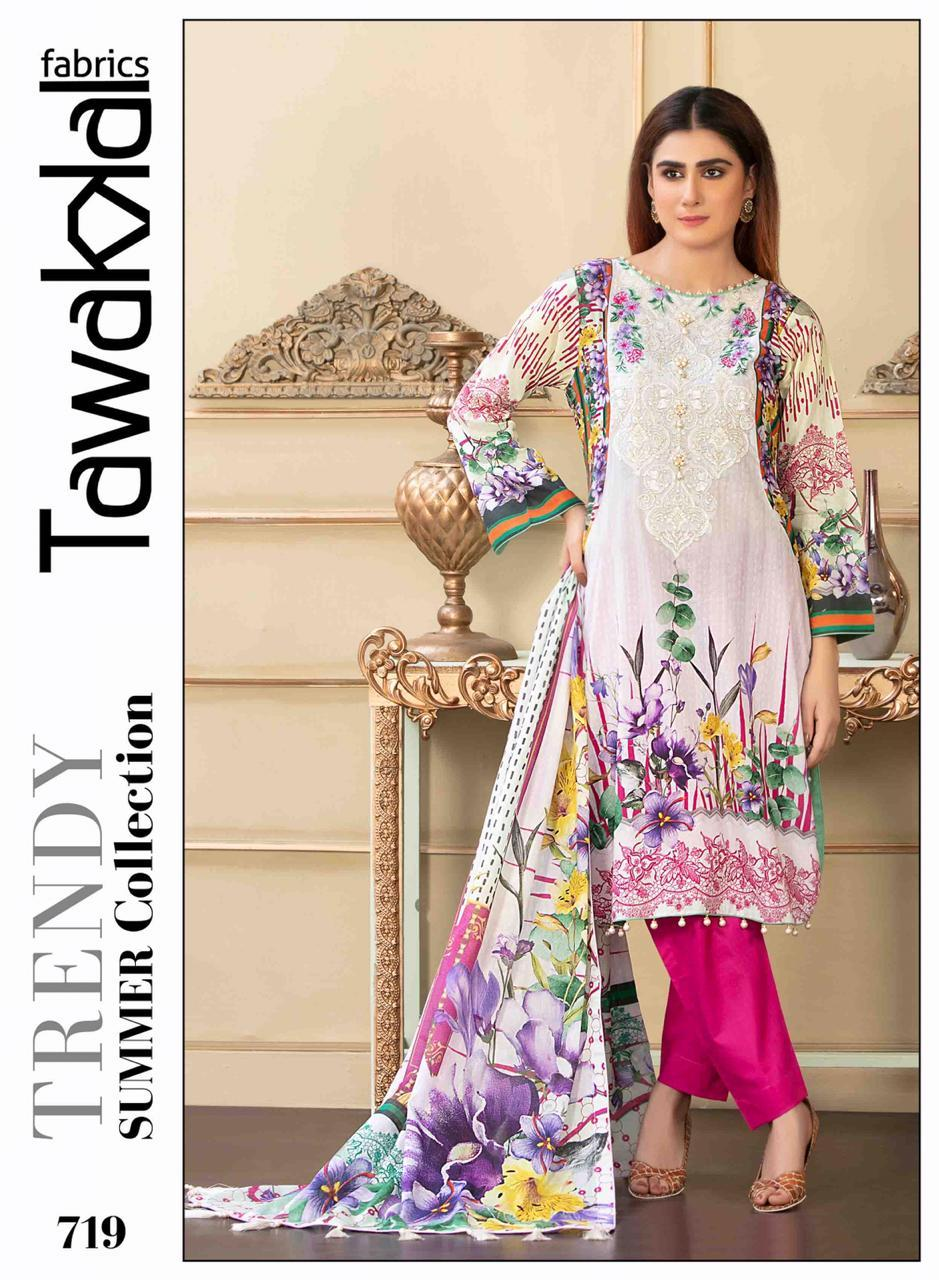 Tawakkal Original Lawn Design RMT719 - Asian Suits Online
