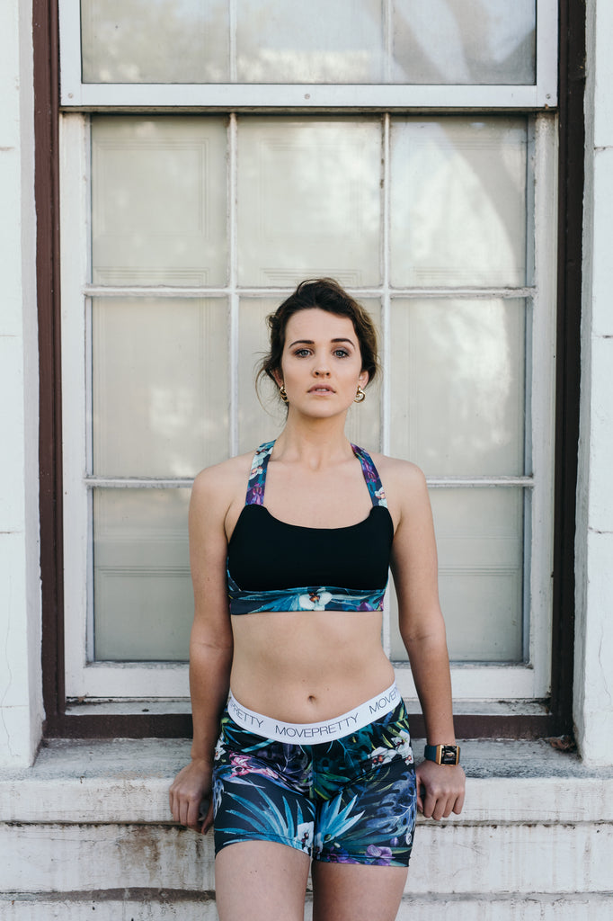 THE PRETTY RUNNER SPORTS BRA | ORCHID