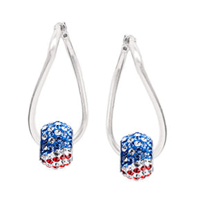 1776 Flag Sparklie Twist Earrings