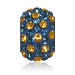 1850 | Sparklies® - Navy & Golden Topaz Polka Dot
