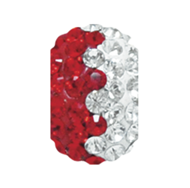 2767 | Sparklies® - Bright Red & White Zig-Zag