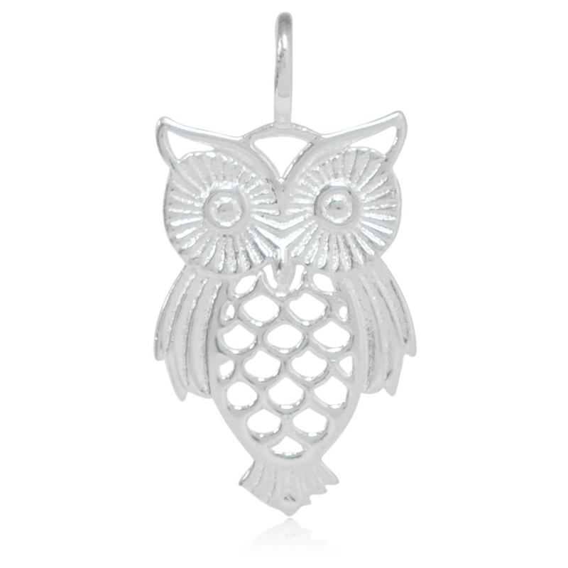 8032 | Sterling Silver Pendant - Owl