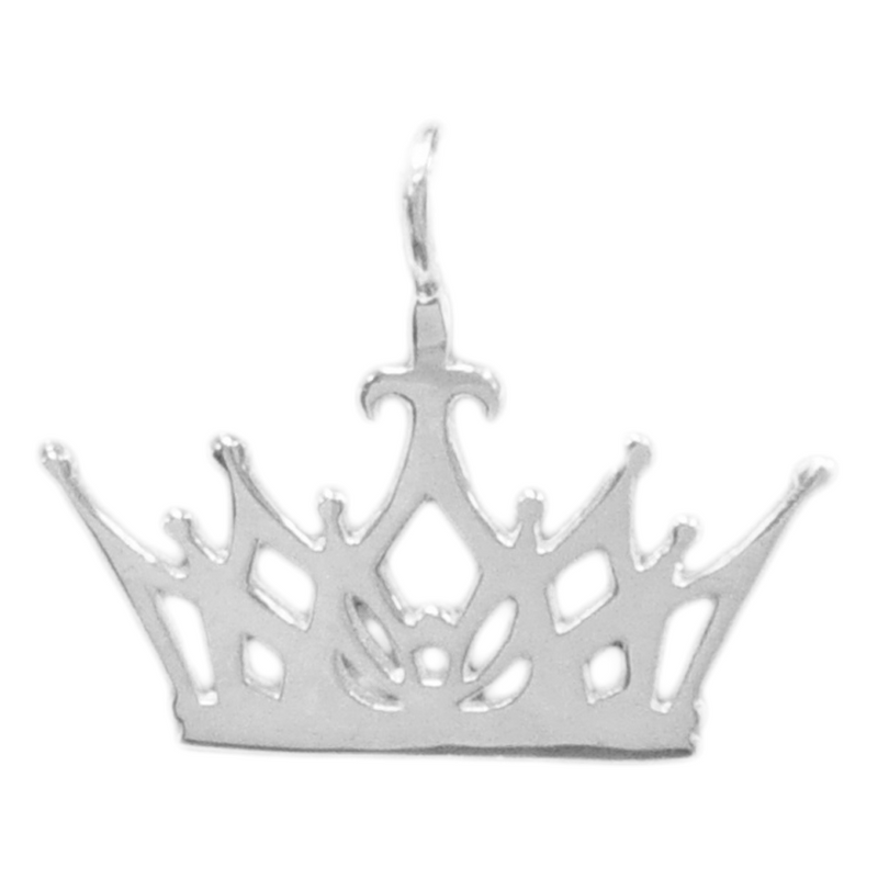 8054 | Sterling Silver Pendant - Crown