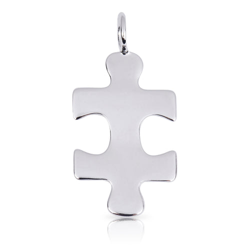8082 | Sterling Silver Pendant – Puzzle Piece