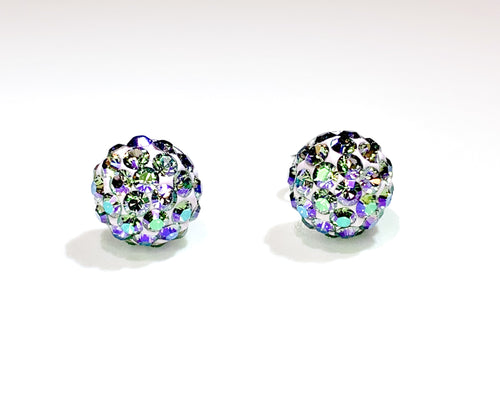 CB4036 l HD Crystal Ball Stud Earrings - Paradise Shine