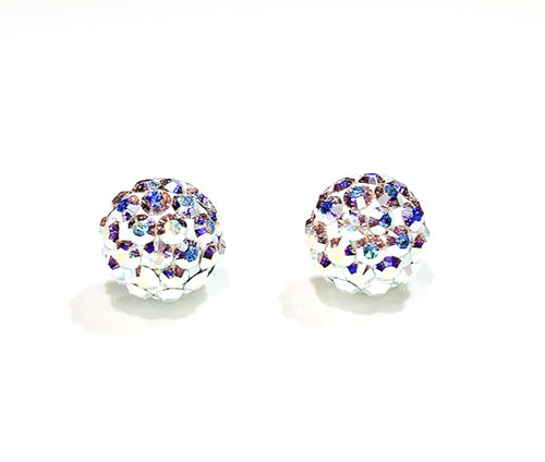 CB4030 l HD Crystal Ball Stud Earrings - Crystal AB