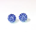 CB4001 l HD Crystal Ball Stud Earrings - Sapphire Blue (September)