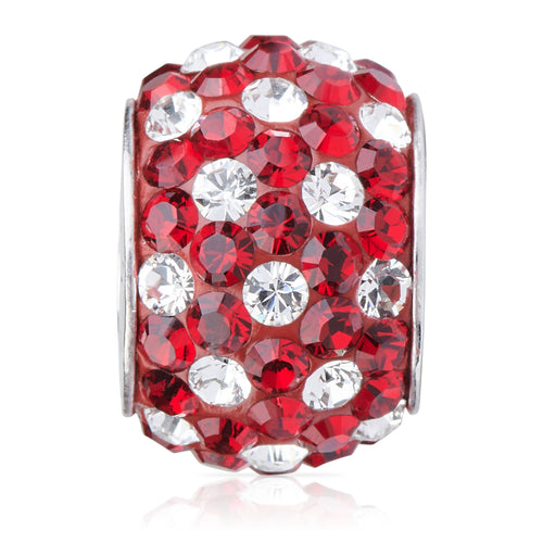 1800 | Sparklies® - Siam Red & Clear Polka Dot (JAN)