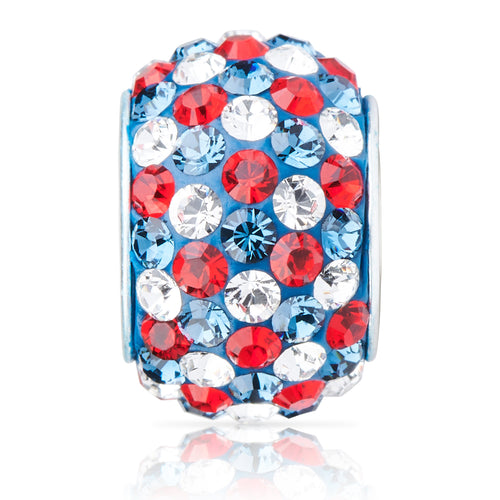 1823 | Sparklies® - Navy Blue, Red & White Speckled