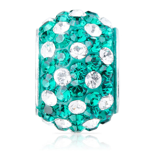 1845 | Sparklies® - Emerald & White Polka Dot (MAY)