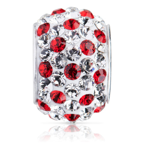 1877 | Sparklies® - White w/ Bright Red Polka Dots