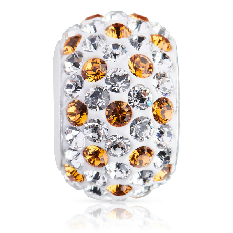 1881 | Sparklies® - White w/ Golden Topaz Polka Dots (NOV)