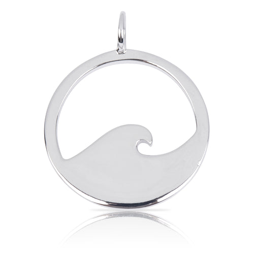 8098 | Sterling Silver Pendant – Wave