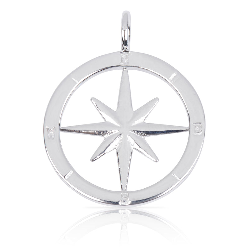 8099 | Sterling Silver Pendant – Compass