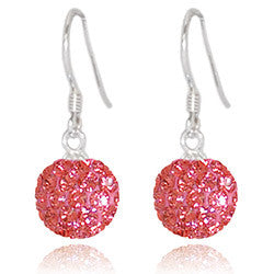 CB2032 | Crystal Ball Dangle Earring - Coral